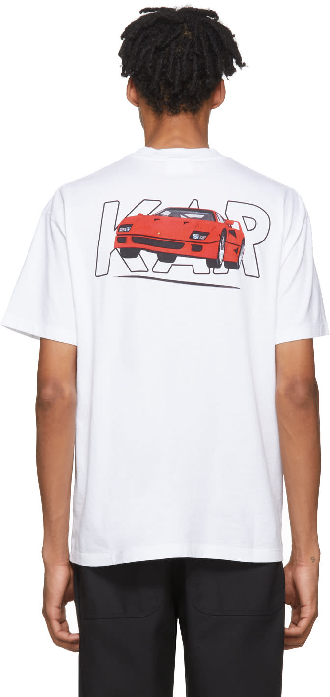 Image of Kar - Lart De Lautomobile White Fly Ferrari T-shirt