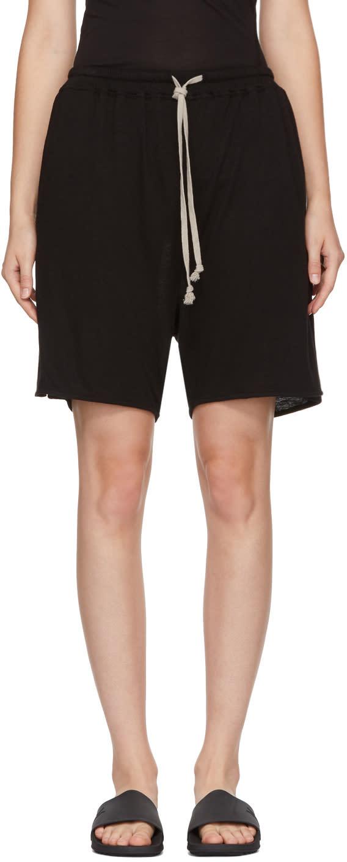 Image of Rick Owens Lilies Black Drawstring Shorts