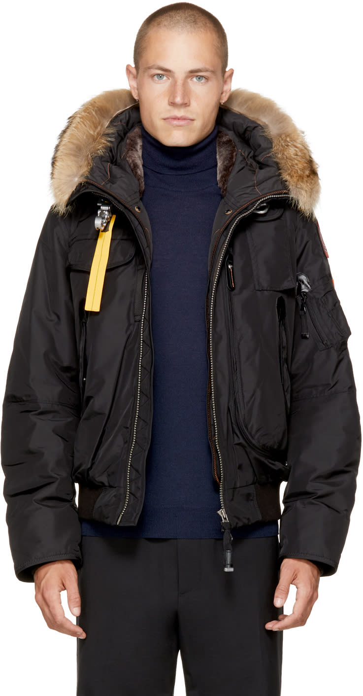 Image of Parajumpers Black Masterpiece Gobi Bomber Jacket