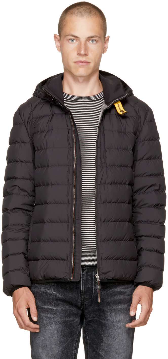Image of Parajumpers Black Super Lightweight Last Minute Jacket