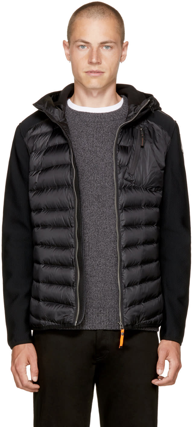 Image of Parajumpers Black Warm Up Nolan Jacket