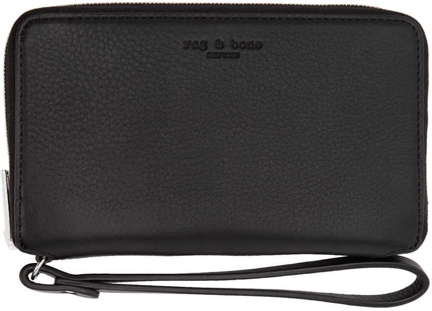 Rag and Bone Black Phone Wristlet Wallet