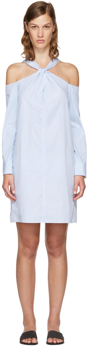 Rag and Bone Blue Striped Collingwood Dress