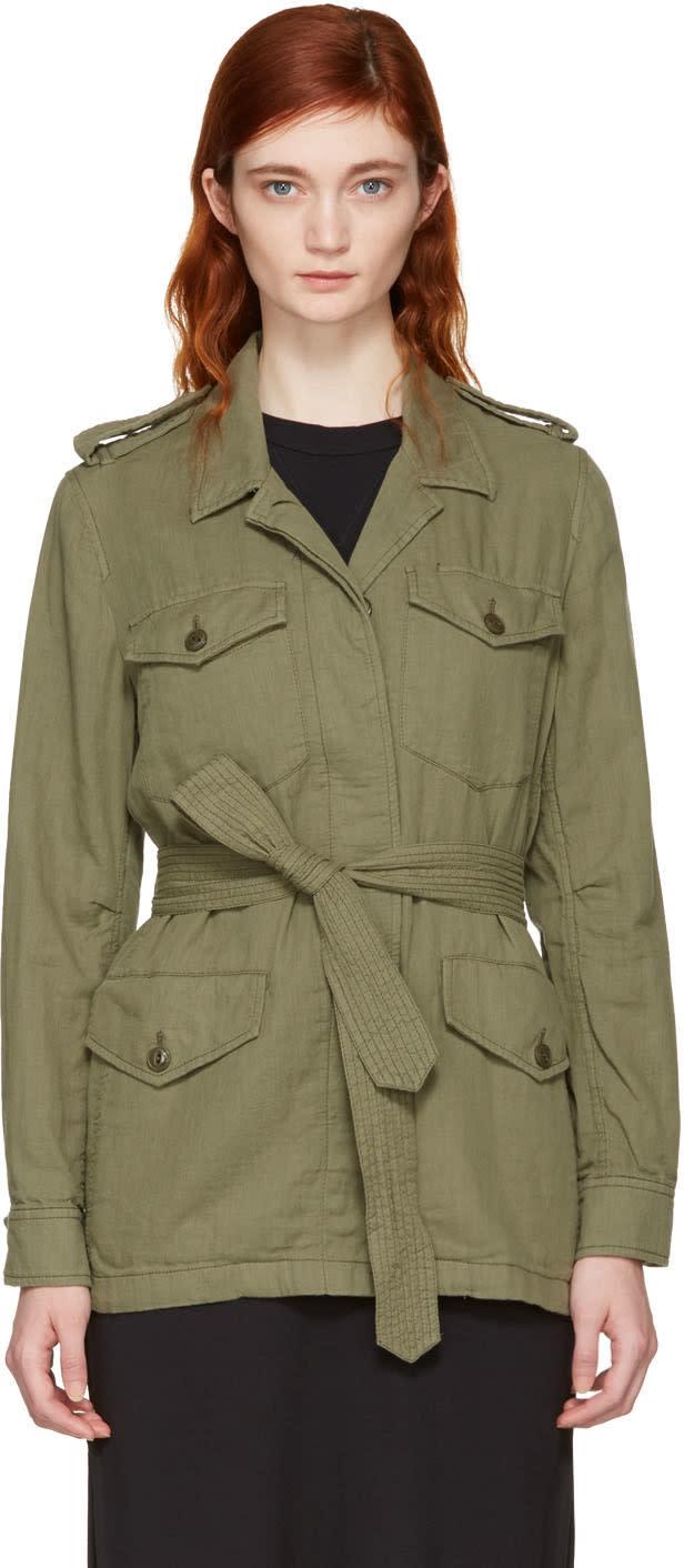 Rag and Bone Green Bennett Military Jacket