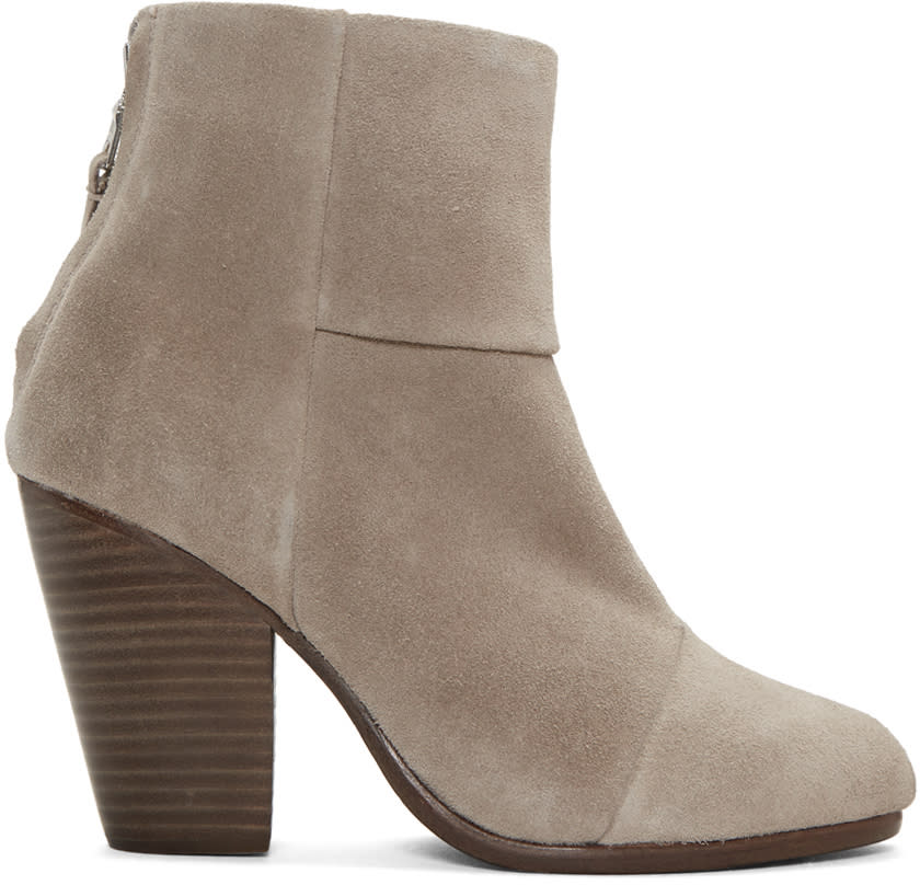 Rag and Bone Grey Suede Classic Newbury Boots