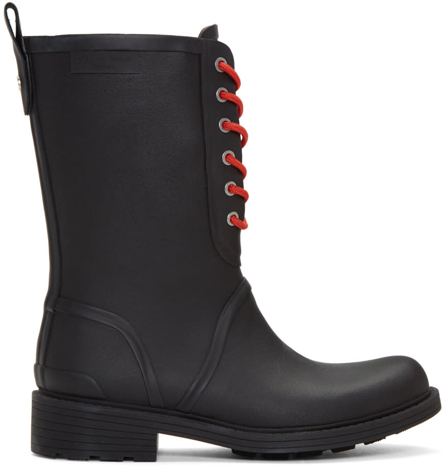 Image of Rag and Bone Black Ansel Rain Boots