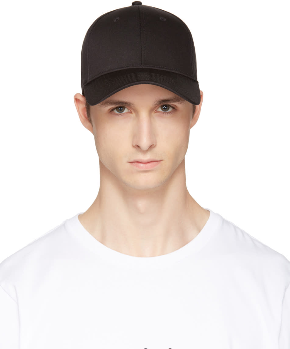 Image of Rag and Bone Black Baseball Cap