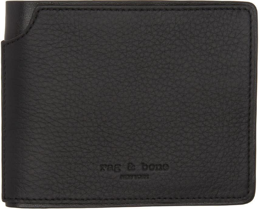 Image of Rag and Bone Black Bifold Wallet