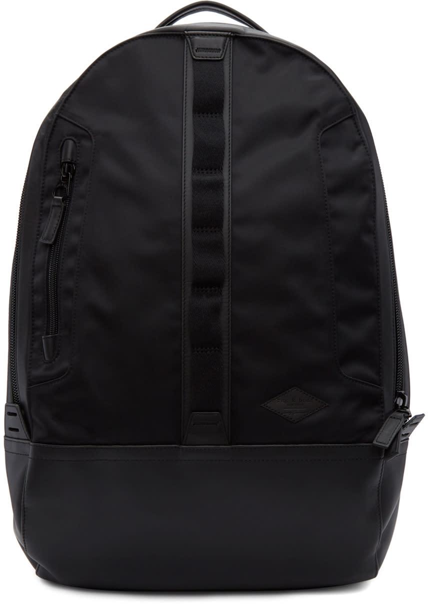 Image of Rag and Bone Black Aviator Backpack