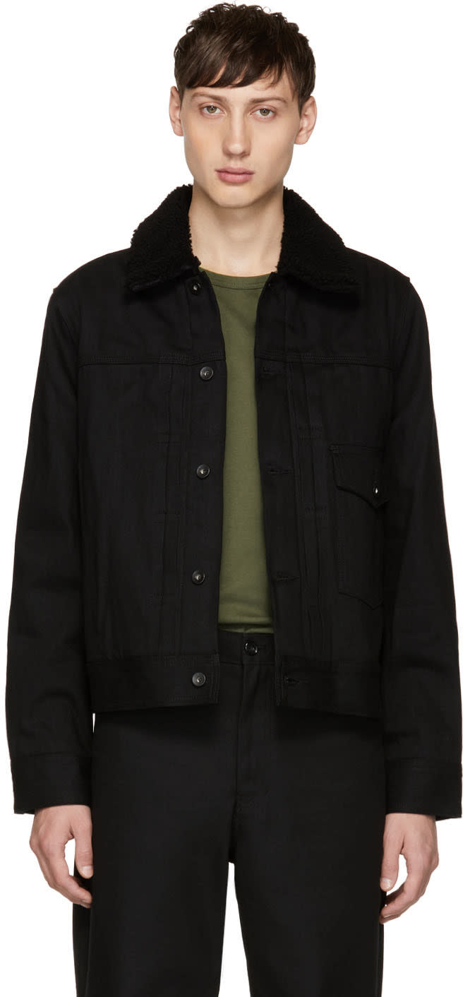 Rag and Bone Black Denim Bartack Jacket
