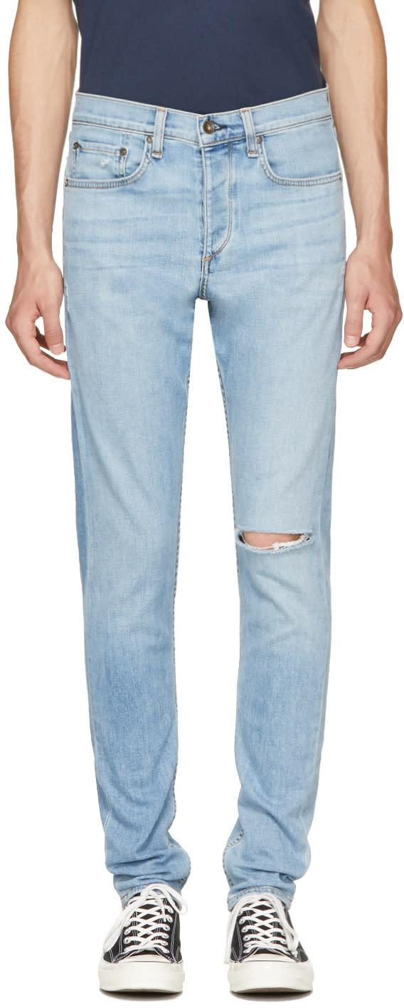 Rag and Bone Blue Standard Issue Fit 1 Extra Slim Jeans