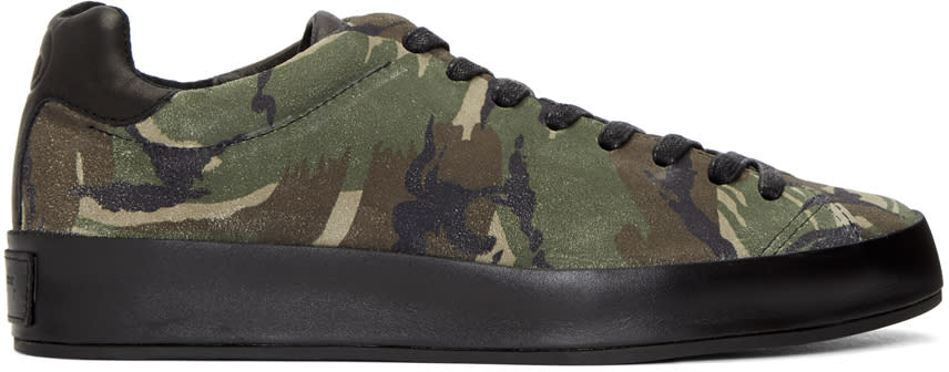 Rag and Bone Green Camo Suede  Rb1 Sneakers