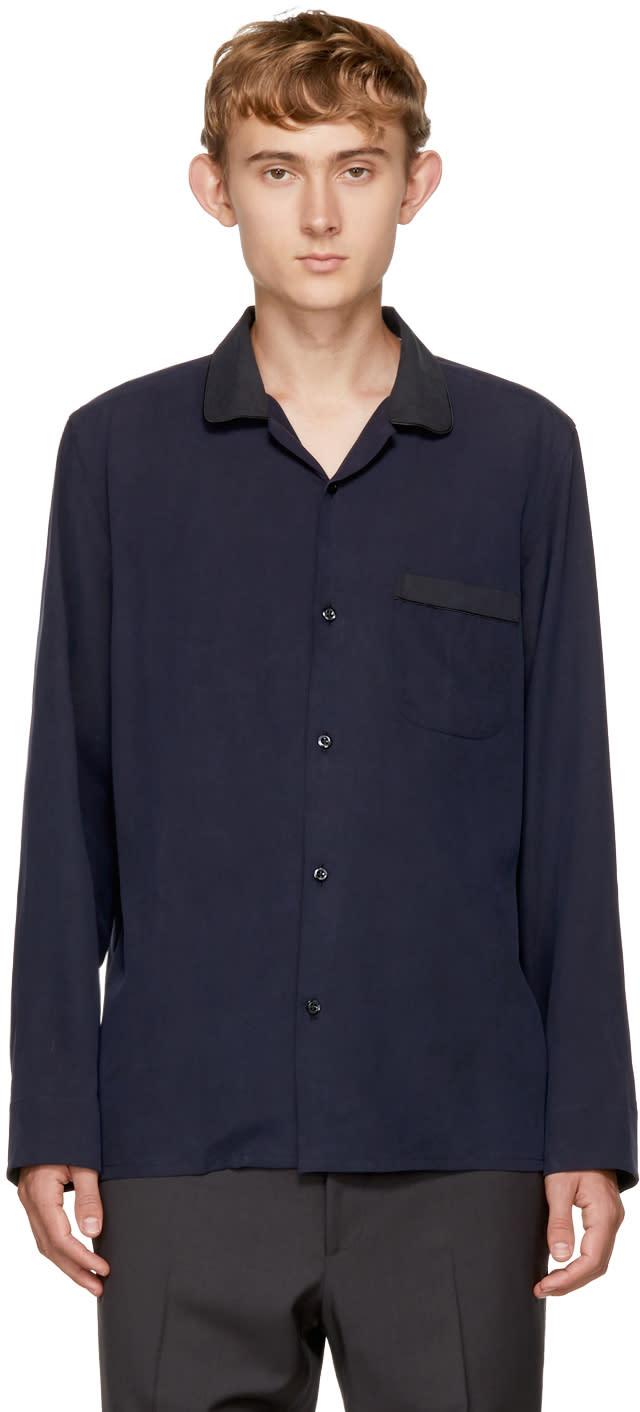 Image of Cobra S.c. Blue Silk Convertible Shirt