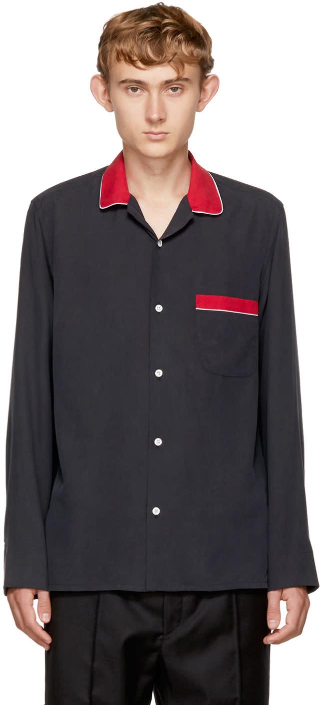 Image of Cobra S.c. Black Silk Convertible Shirt