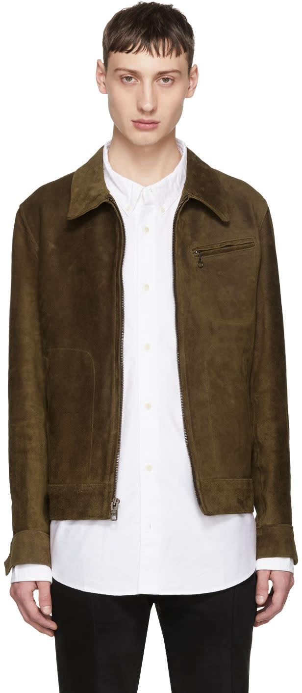 Image of Schott Brown Suede Duke Jacket