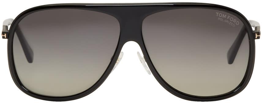 Image of Tom Ford Black Chris Aviator Sunglasses