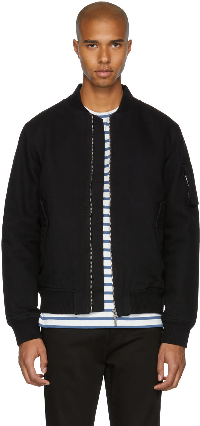 Image of Nudie Jeans Black Alexander Bomber Jacket