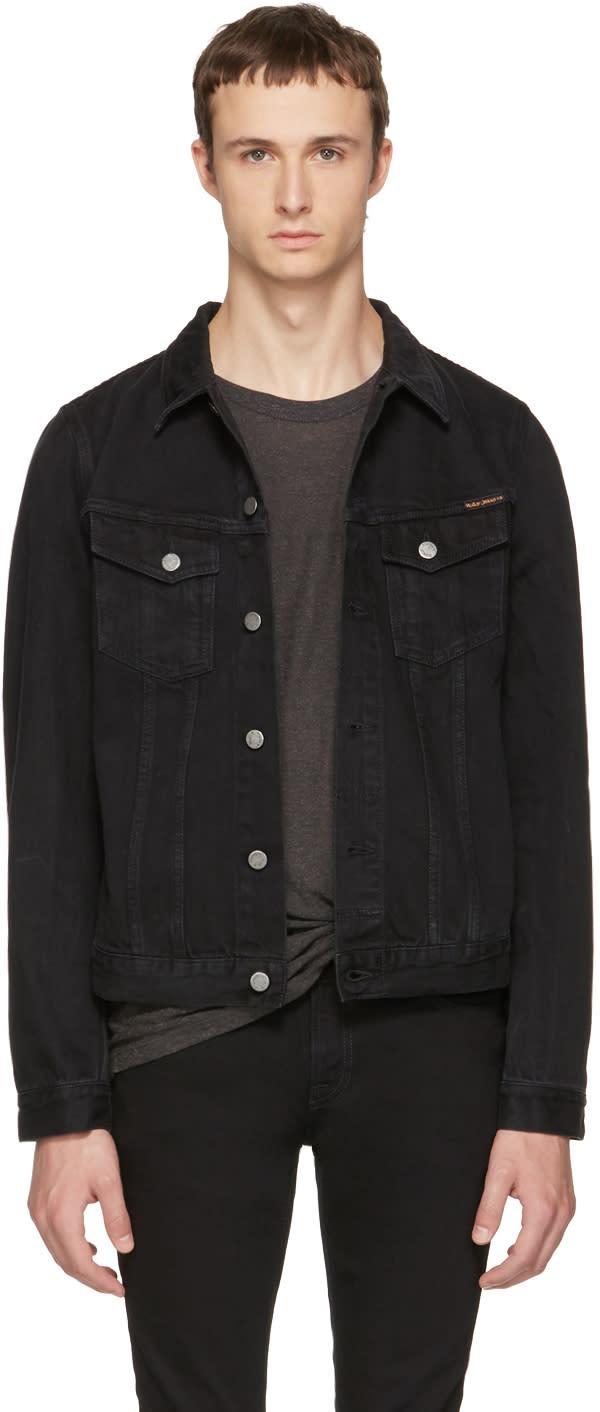 Image of Nudie Jeans Black Denim Billy Jacket
