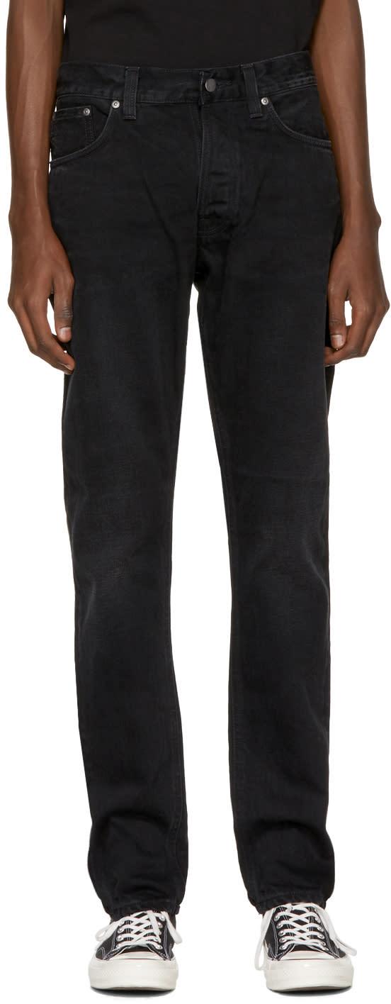 Image of Nudie Jeans Black Fearless Freddie Jeans