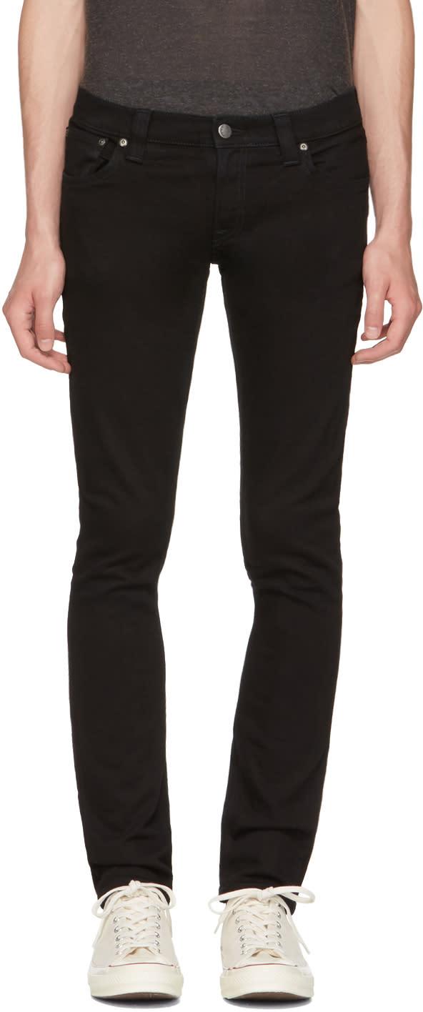 Image of Nudie Jeans Black Long John Jeans