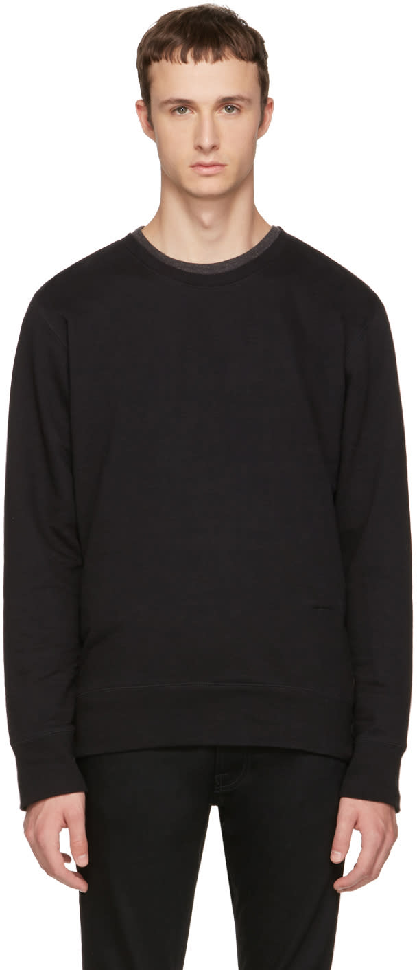 Image of Nudie Jeans Black Evert Light Sweatshirt
