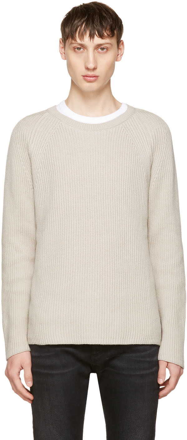 Image of Nudie Jeans Beige Aron Sweater