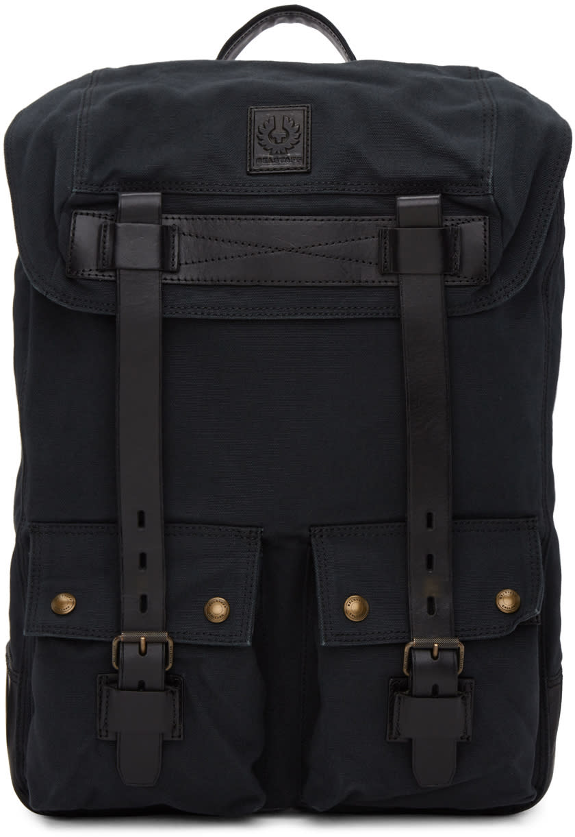 Image of Belstaff Black Colonial Backpack