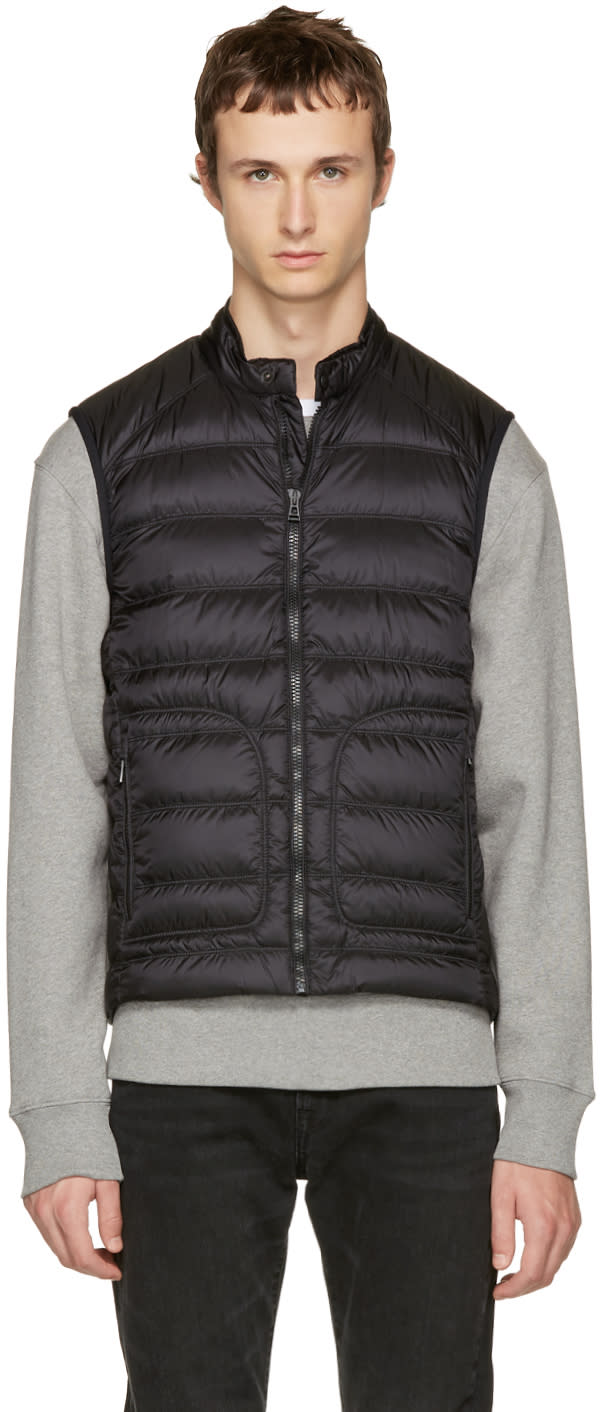 Image of Belstaff Black Down Harbury Vest