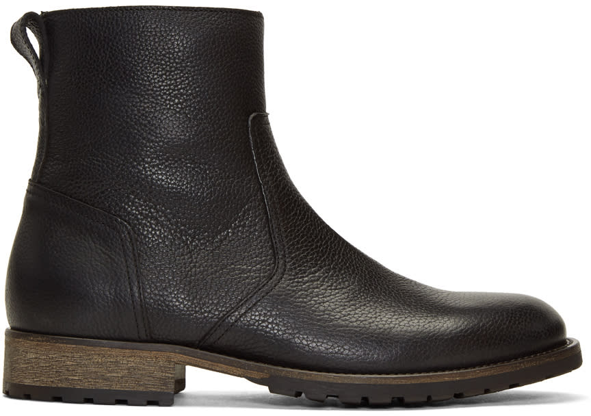 Image of Belstaff Black Attwell Boots