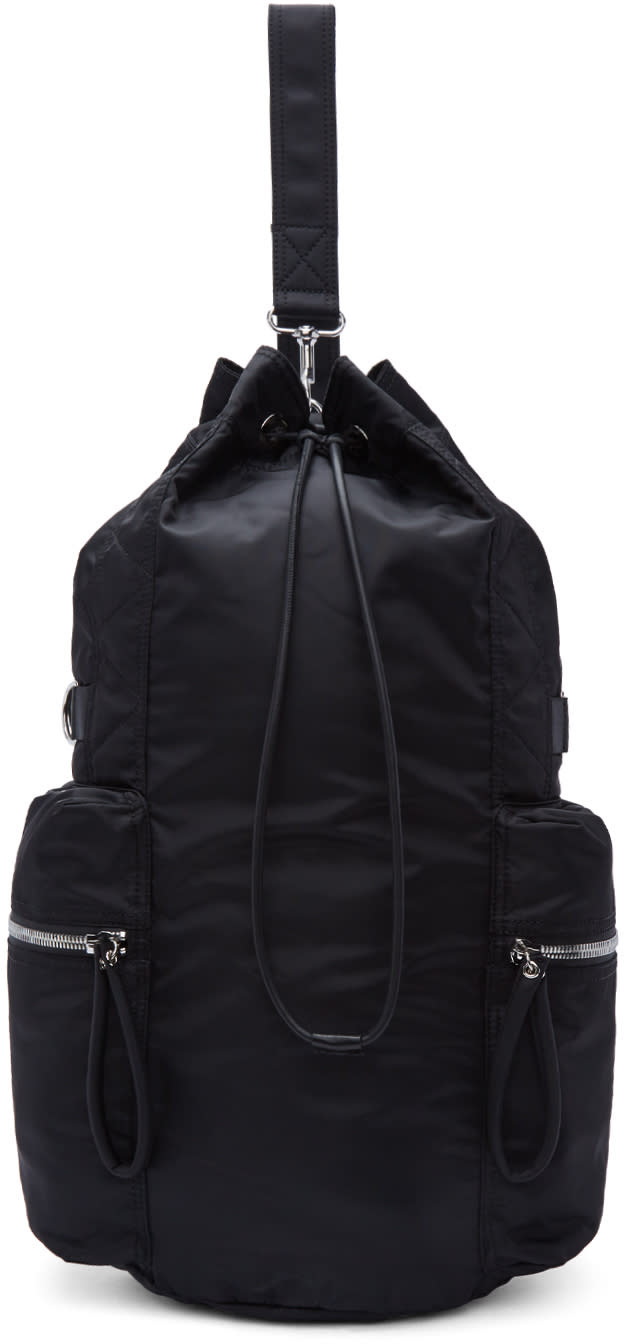 Diesel Black Gold Black Nylon Backpack