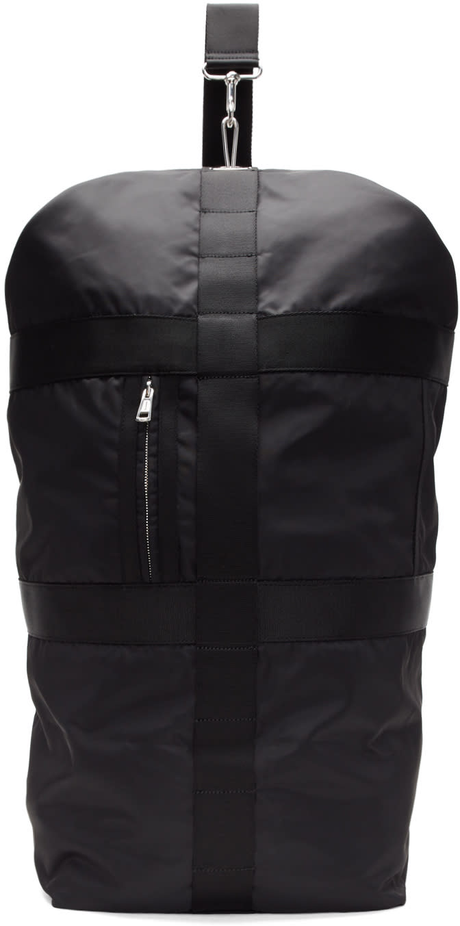 Diesel Black Gold Black Nylon Weekender Bag