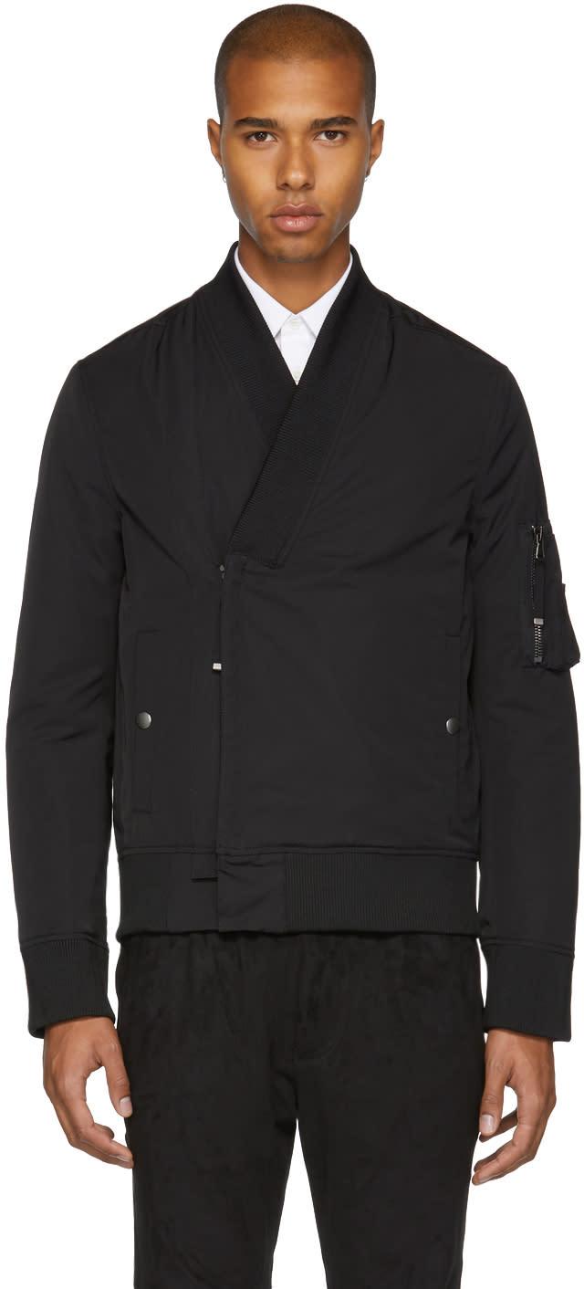 Image of Diesel Black Gold Black Kimono Bomber Jacket