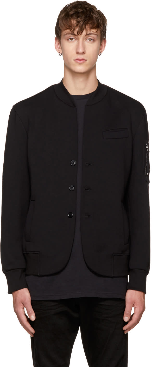 Image of Diesel Black Gold Black Jersey Cardigan