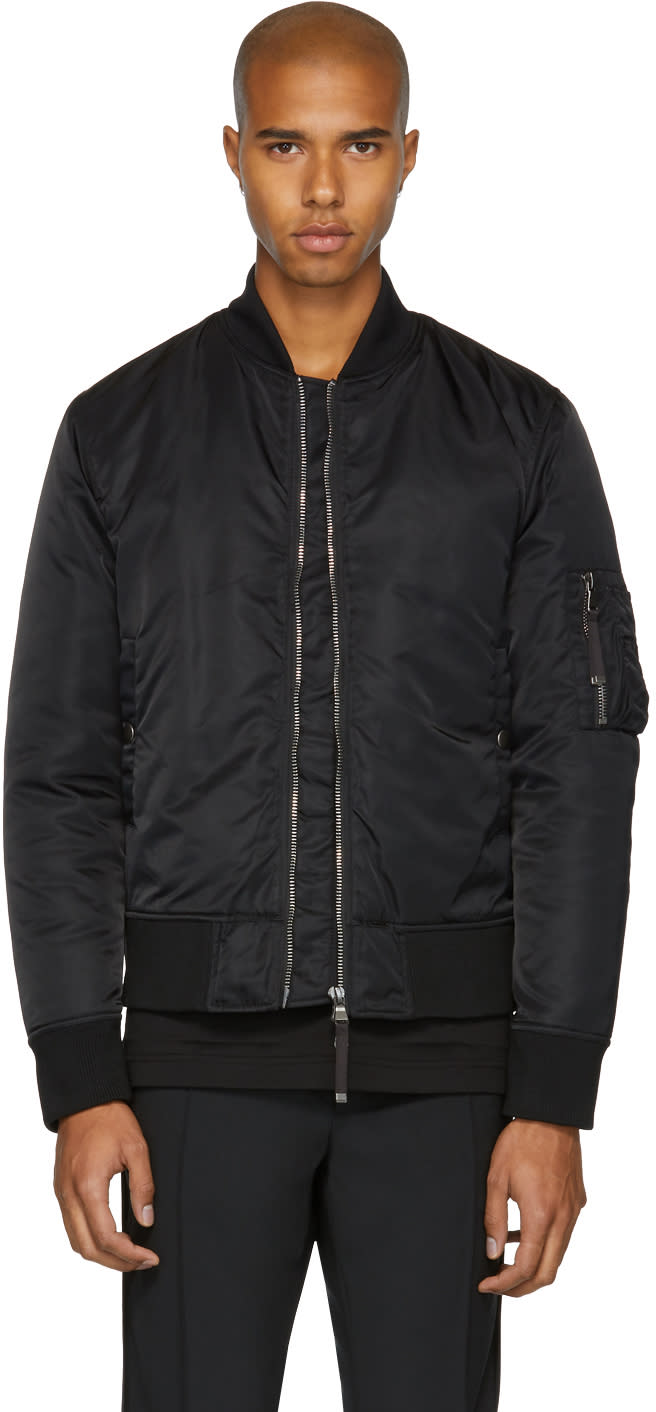 Image of Diesel Black Gold Black Back Graphic Bomber Jacket