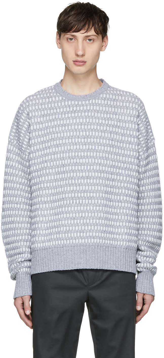 Diesel Black Gold Grey And White Wool Sweater