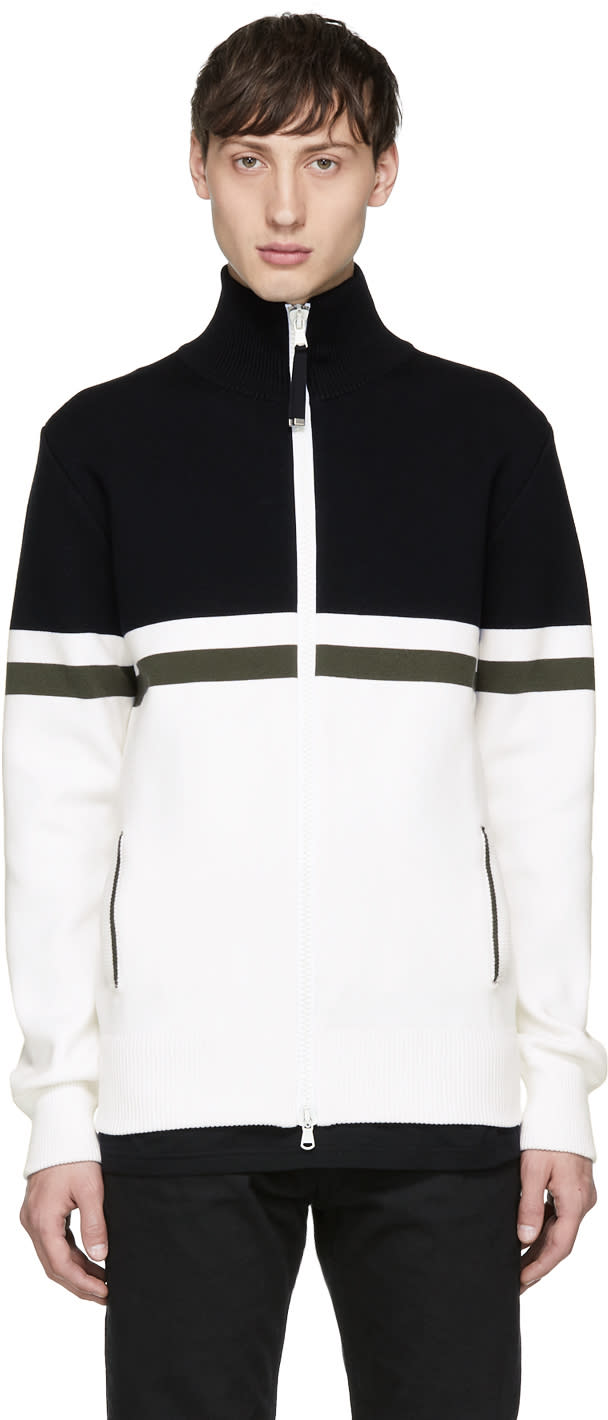 Image of Diesel Black Gold Black and White Track Jacket