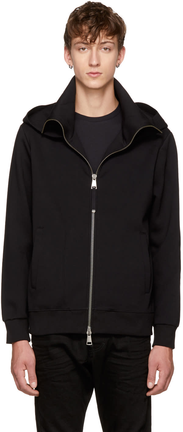 Image of Diesel Black Gold Black Funnel Neck Hoodie