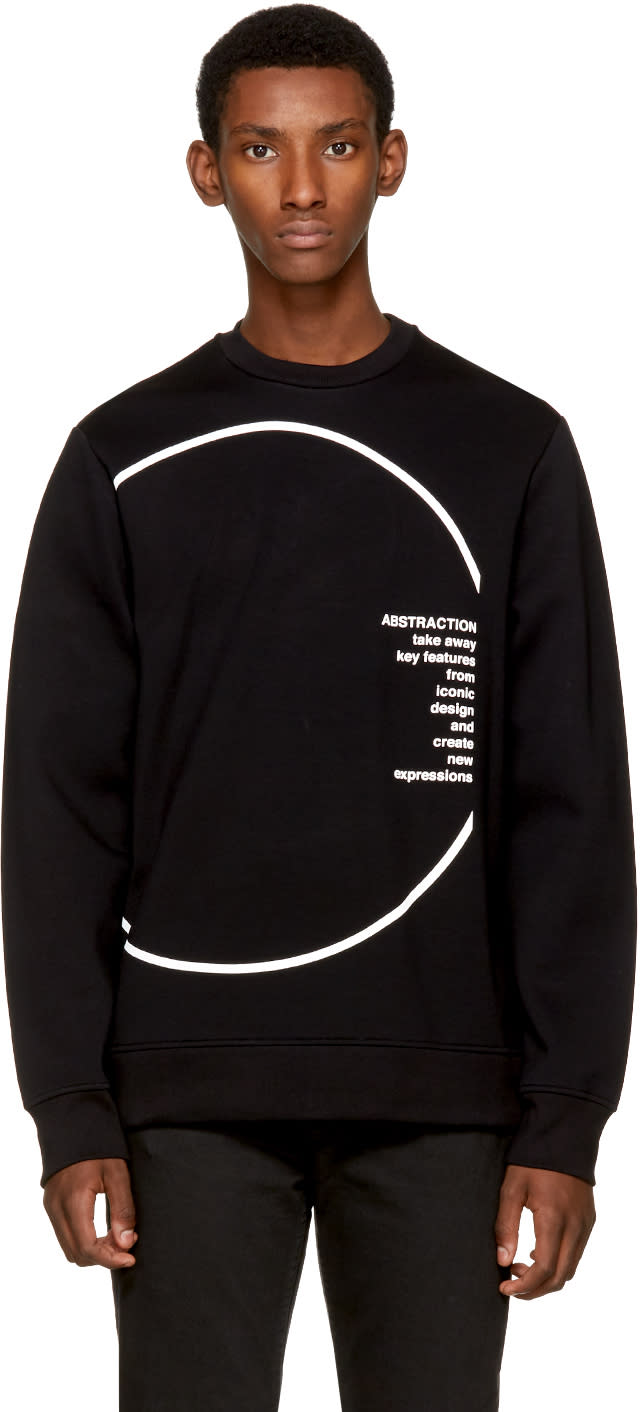 Image of Diesel Black Gold Black Circle Sweatshirt