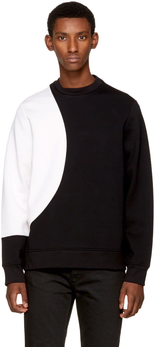 Image of Diesel Black Gold Black and White Contrast Sweatshirt