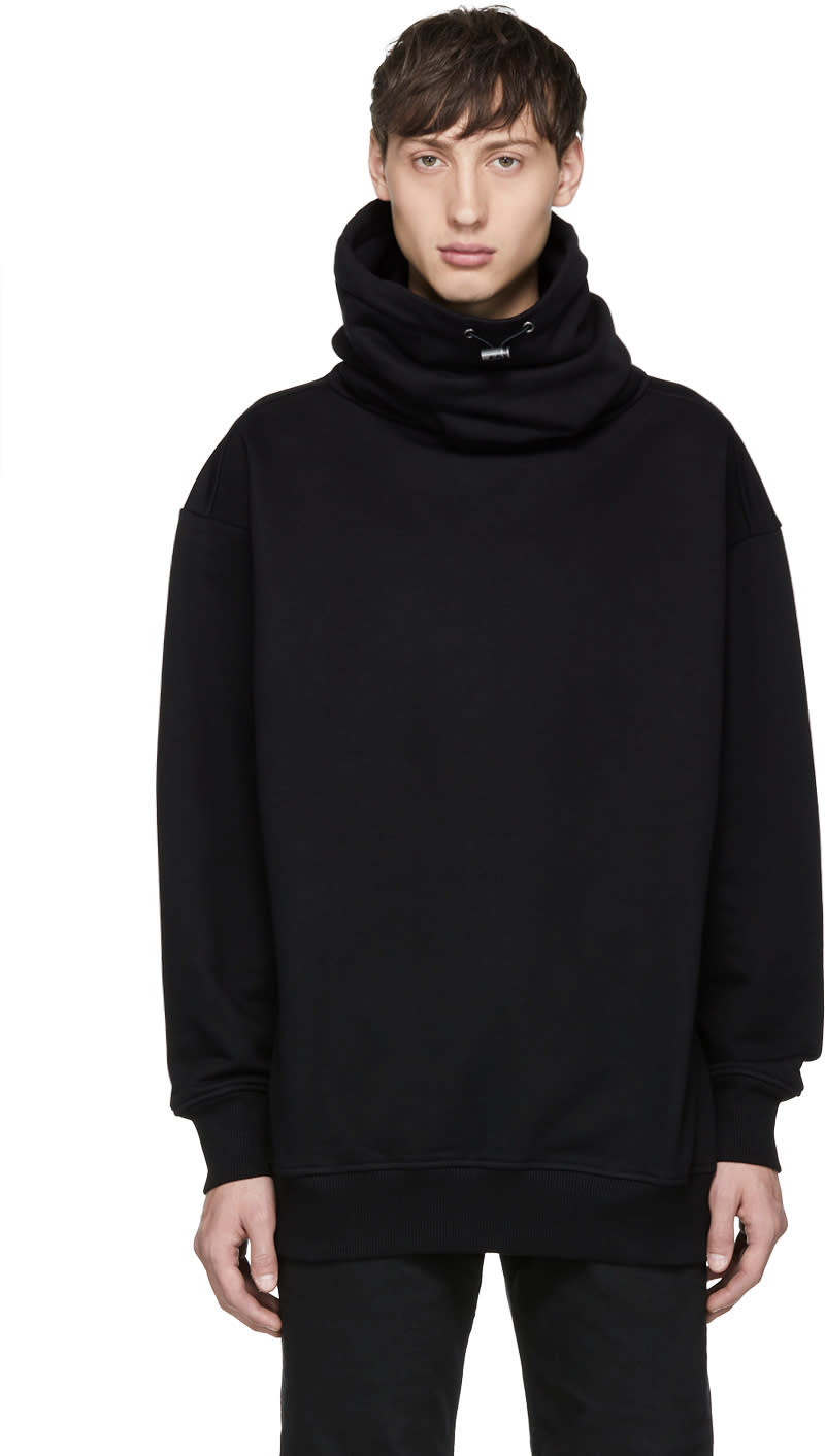 Diesel Black Gold Black Wide Neck Turtleneck
