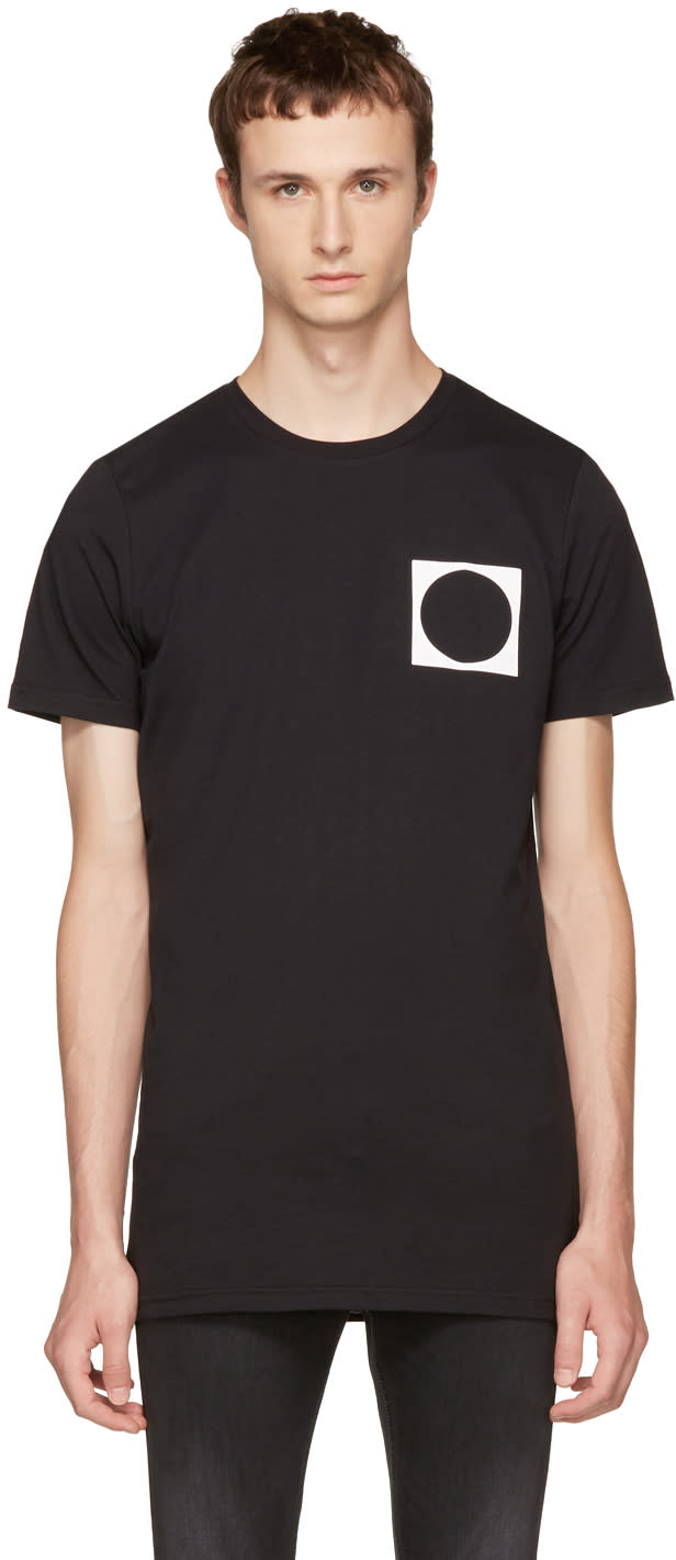 Image of Diesel Black Gold Black Circle T-shirt