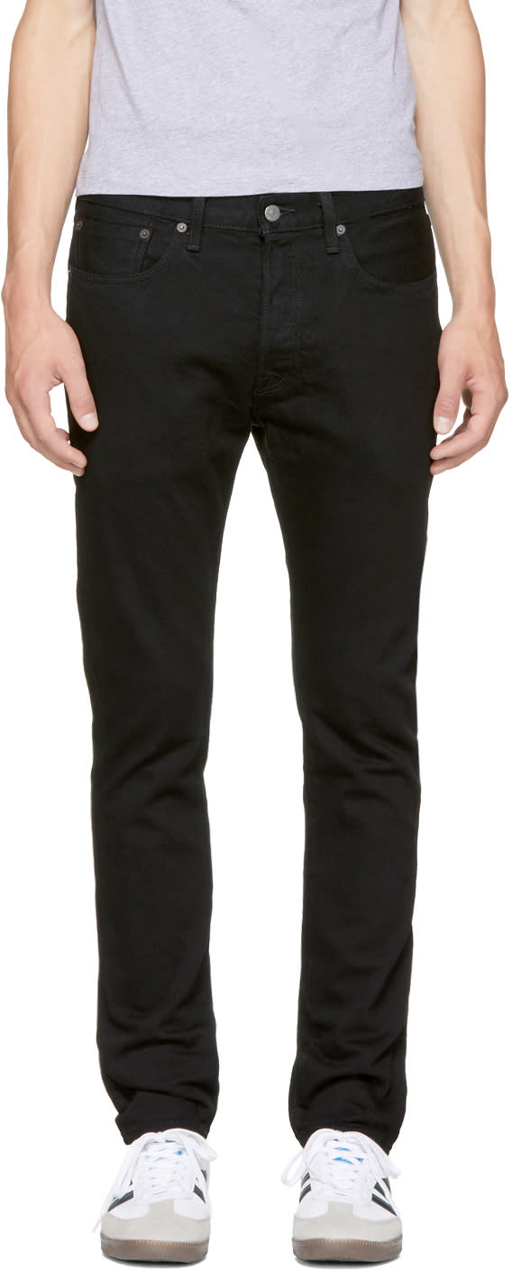 Image of Levis Black 501 Skinny Jeans