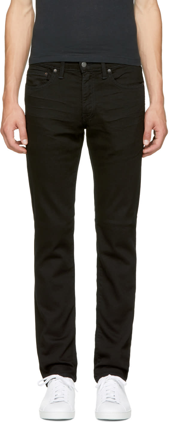 Image of Levis Black 511 Slim Jeans