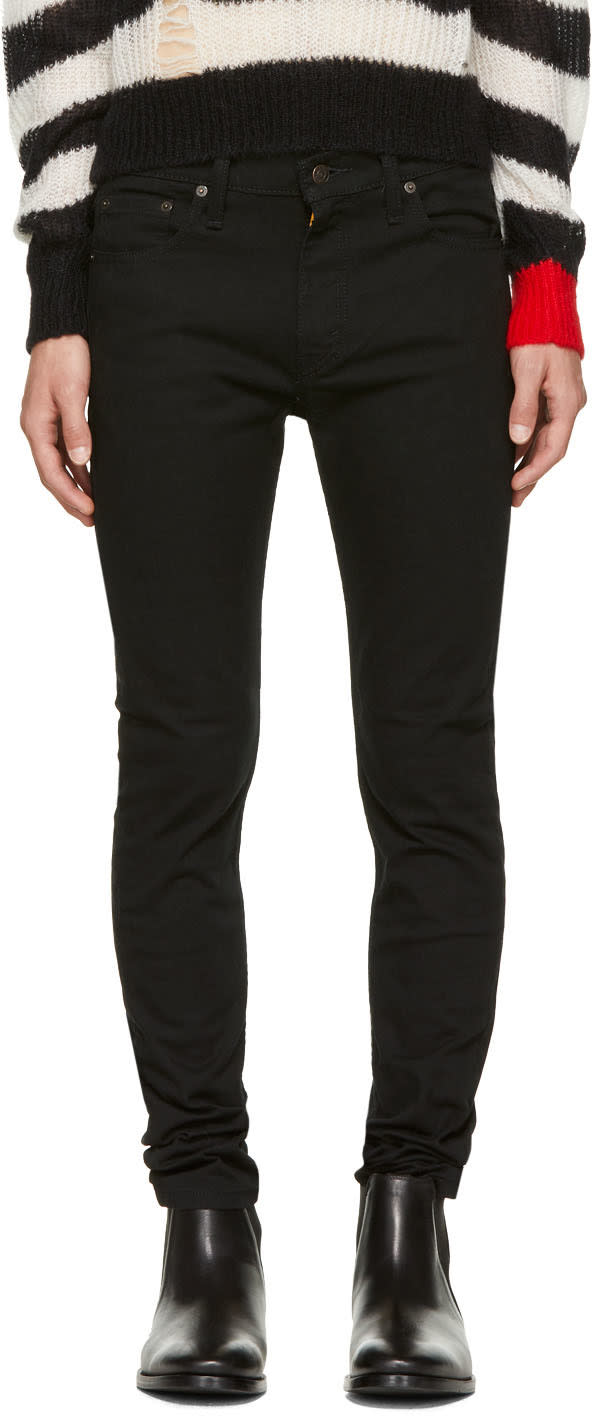 Image of Levis Black 510 Skinny Jeans