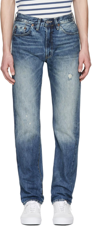 Image of Levis Vintage Clothing Blue 1954 501 Jeans