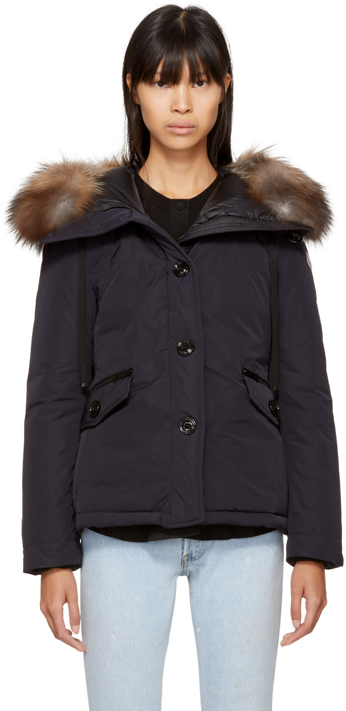 Moncler Navy Down Malus Jacket