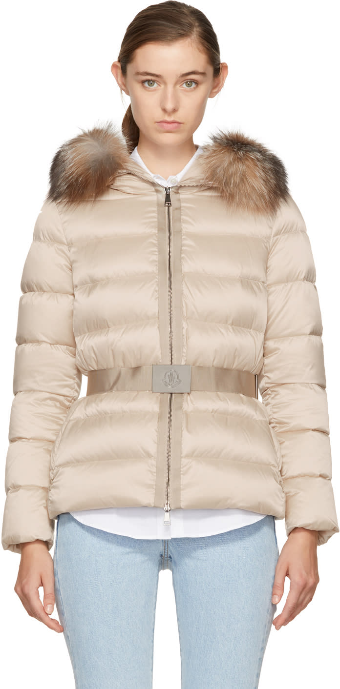 Image of Moncler Beige Down Tatie Jacket