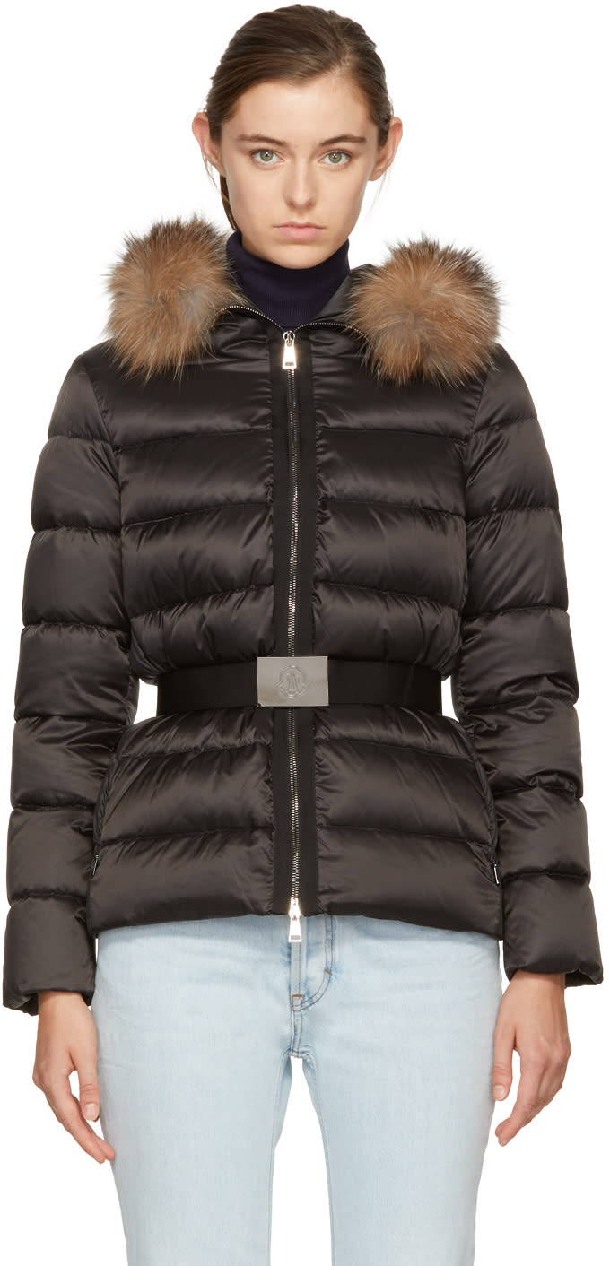 Moncler Black Down Tatie Jacket