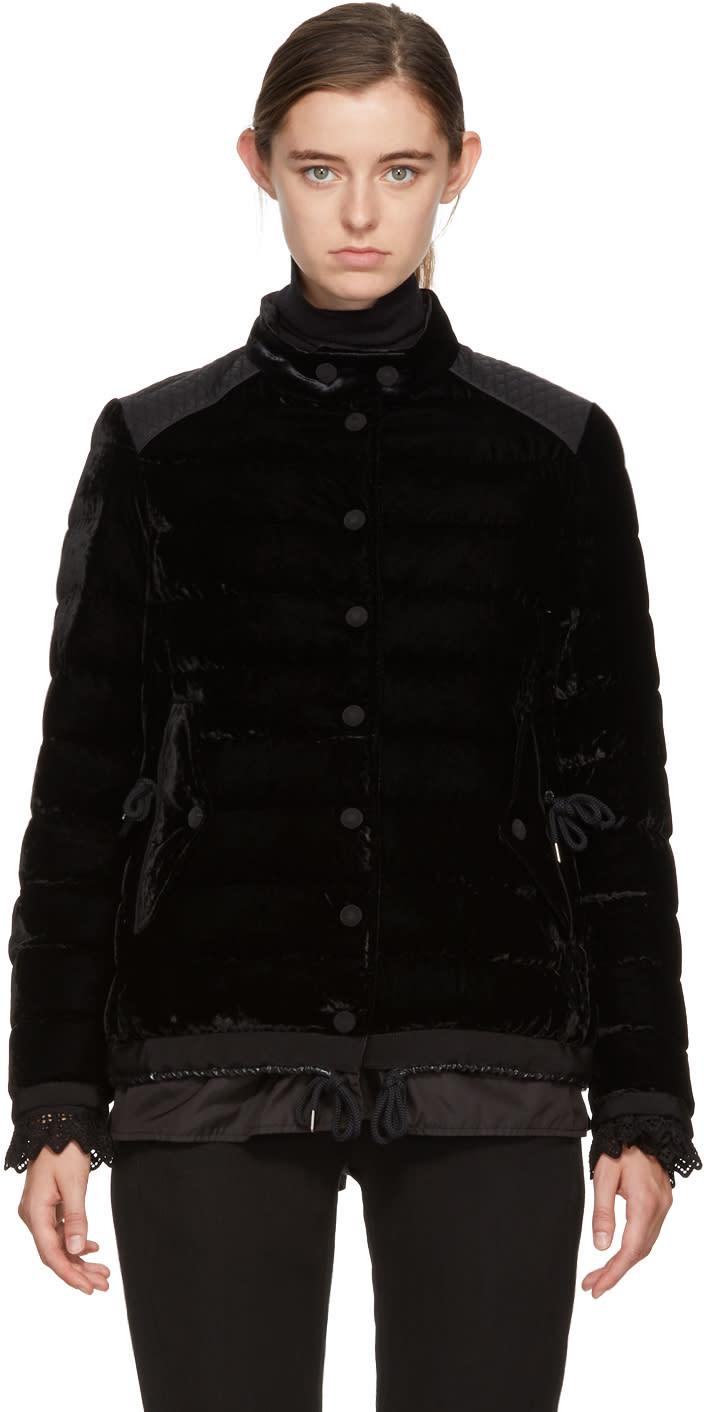 428d9b73c Moncler Black Velvet Down Twist Beatrice Jacket
