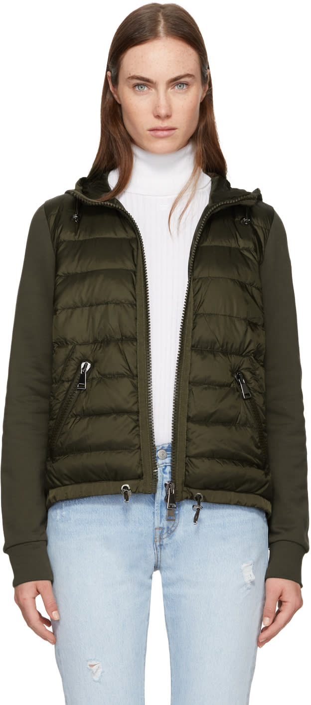 97a9a805e Moncler Green Down Jersey Hooded Jacket